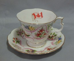 Royal Albert Canada Our Emblems Dear Cup and Saucer Set  - $11.88