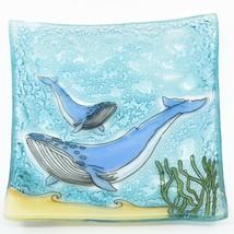 Fused Art Glass Humpback Whale Nautical Design Soap Dish Handmade Ecuador