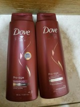 4x DOVE Pro-Age Shampoo for Brittle Hair 13.5 Oz Large Bottle Discontinued RARE - $37.39