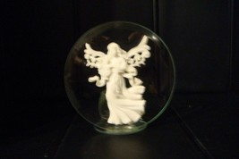 NEW Round Angel Votive Candle Holder Green Battery Tea-Light Included - $14.85
