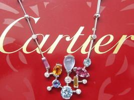 "Cartier 18Kt Meli Melo Multi Gem Diamond White Gold Necklace 18"" Completepackage - $8,415.00"