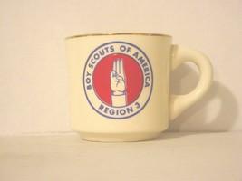 BSA 1970's Boy Scout Coffee Mug Cup Region 3 Boy Scouts Of America - $12.72