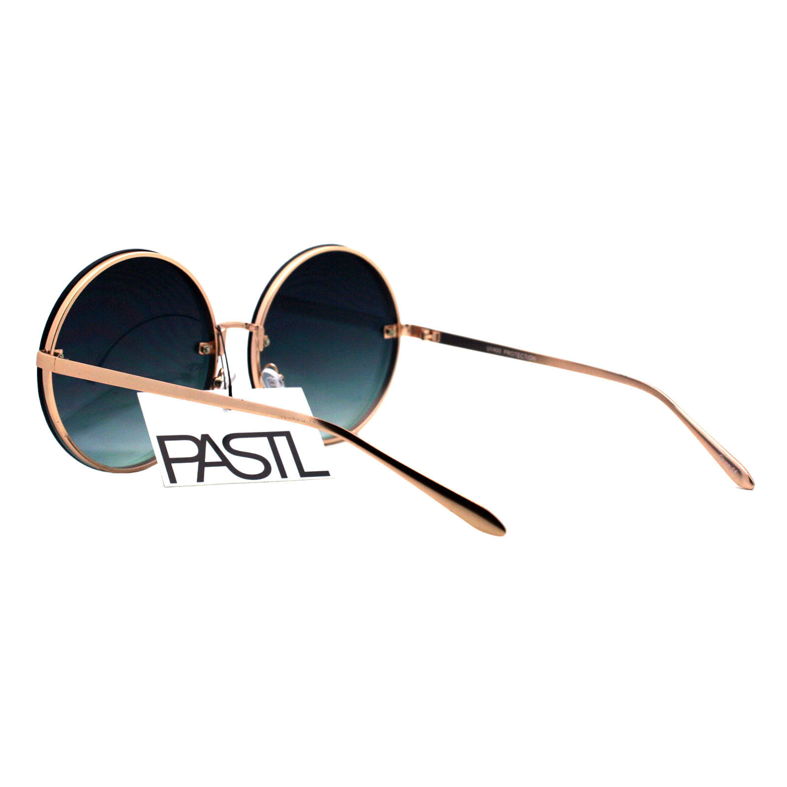 PASTL Super Oversized Round Sunglasses Womens Pink Mirror Lens UV 400 image 10