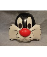LOONEY TUNES SYLVESTER THE CAT HALLOWEEN FACE MASK PVC CHILD SIZE - $7.87