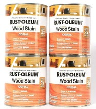 4 Rust-Oleum 32 Oz Ultimate Wood Stain One Coat 330109 Coral Dries In 1 ... - $47.99