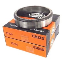 LOT OF 2 NIB TIMKEN 45220 TAPERED ROLLER BEARING CUPS