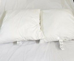 "Set Lot (2) Pottery Barn 26"" x 26"" Large Sham Polyester Pillow Insert USA Made image 1"