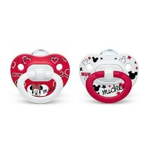 NUK DISNEY BABY MINNIE MOUSE ORTHODONTIC PACIFIERS SET OF 2 -  6-18 MONTHS - $9.99