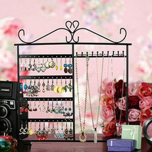 10 Hooks 48 Holes Earrings Necklace Jewelry Display Rack Holder Stand - $89.92