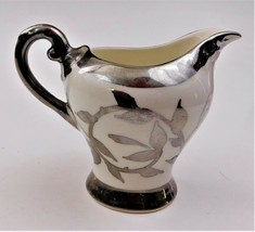Creamer Pitcher Mott 1505F Old Silver Lustre Staffordshire England - $19.80