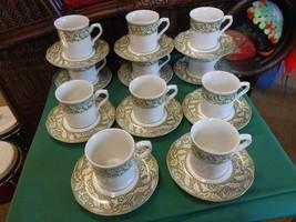 "English Ironstone STERLING ""Renaissance"" J&G Meakin Set of 11 CUPS & SAU... - $70.16"