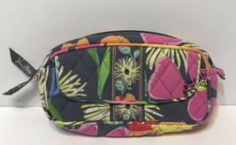 Vera Bradley Mirror Cosmetic Makeup Case Plastic Lined Pink Gray Yellow ... - $17.55