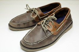 Sperry Top-Sider 10 Brown Boat Shoes Men's - $42.00