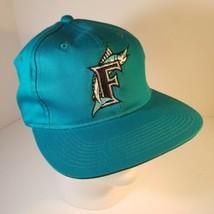 MLB Florida Marlins Turquoise Teal Blue Cap Hat Snapback Ballcap Display... - $18.99