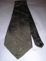 Kenneth Cole Sage Green Leaves Men Neck Tie - $10.00