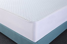 Premium Waterproof Mattress Pad Hypoallergenic and Vinyl Free Fitted Twin - $22.01