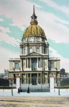 PARIS Dome des Invalides France - 1900s Photo Chromotype Print Color - $10.33
