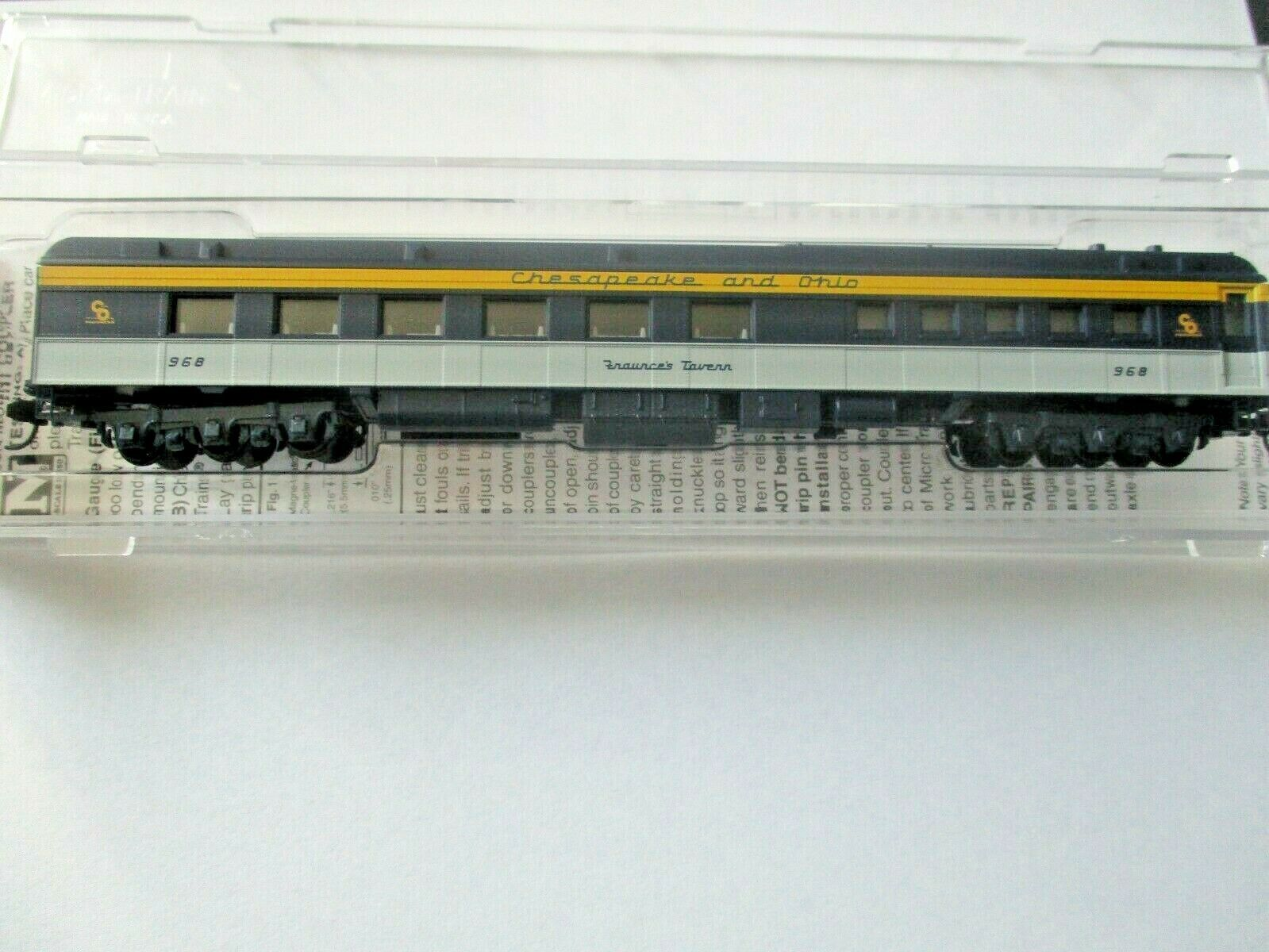 Micro-Trains # 14600410 Chesapeake & Ohio 80' Heavyweight Diner Car N-Scale