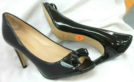 Enzo Angiolini Linzzi Genuine Patent Leather Peep Toe/Bow Pumps Size 7.5... - $24.75