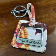 New Vintage TYLER RODAN Canvas & Stainless Steel Keychain with Clip - $19.95