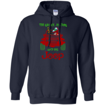 Grinch His Dog and His Jeep Ver2 G185 Navy Hoodie 8 oz. - $32.50+