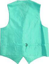 Men's Solid Color Adjustable Dress Vest & Neck Tie Set for Suit or Tuxedo image 11