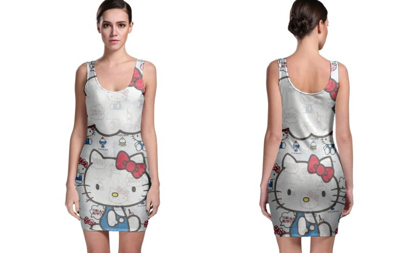 Primary image for New Hello Kitty BODYCON DRESS FOR WOMEN