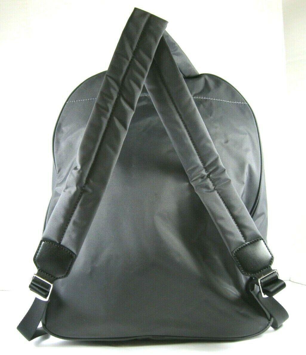 Marc Jacobs NWT $195 Shadow Grey Backpack Book Bag Medium Nylon Zip Around Logo image 2