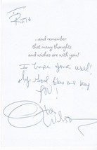 OTIS WILSON HAND SIGNED AND WRITTEN GREETING CARD CHICAGO BEARS - L.A. R... - £4.27 GBP