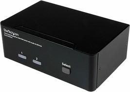 Star Tech 2 Port Dual Display Port Usb Kvm Switch With Audio SV231DPDDUA - $312.99