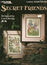 Secret Friends Cross Stitch Pattern Leaflet 2458 Leisure Arts  - $6.99