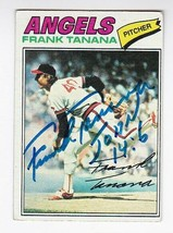 Frank Tanana Autographed Card 1977 Topps California Angels - $4.98