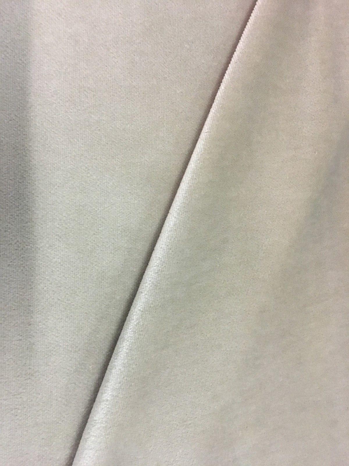 2.375 yds Velvet Upholstery Fabric Light Pearl AL7