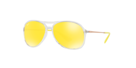 New Ray Ban RB4201 6295C9 59mm Sunglasses Transparent Clear Frame Yellow... - $79.19