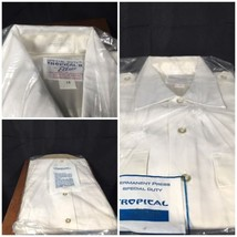 NEW Elbeco Perma Press Uniform Shirt Size 15 White Short Sleeve Special ... - $14.99