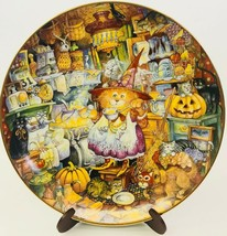 Franklin Mint Plate Bill Bell Scaredy Cats Halloween Holiday Limited Edi... - $29.69