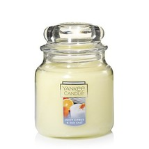 Yankee Candle Juicy Citrus & Sea Salt Fragrance 3.7 Ounce Single Wick SM... - $12.00