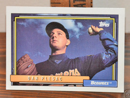 New Mint Topps trading card Baseball card 1992 Brewers 303 Dan Plesac - $1.48