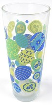 Blue & Yellow EASTER Decorated Egg Themed Tall Glass Tumbler Water Tea  - $4.99