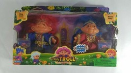 Totally Troll 2001 Playmates Set Queen Ruby & King Azul New Nrfb Hold Hands - $19.80