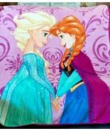 "The  Disney Frozen Anna & Elsa Teal Blue Throw Blanket  60"" x 44""       ... - $34.64"