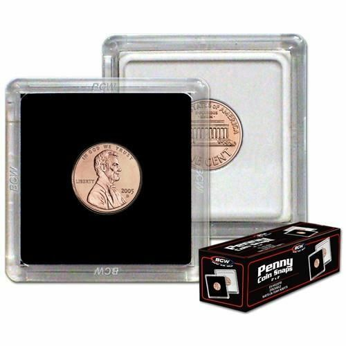 Primary image for (25) BCW 2 x 2 COIN SNAPS - PENNY - BLACK
