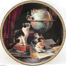Globetrotters Feline Fancy 1993 Victorian Cats Kittens Ronner Bradford P... - $32.95