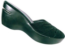 Cole Haan Air Women's Austyn Black Suede Leather Wedge Mule Sandals Size... - $43.96
