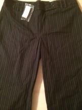 Ann Taylor Women's Dress Margo Fit Black Pinstripe Stretch Size 8 New! - $40.59