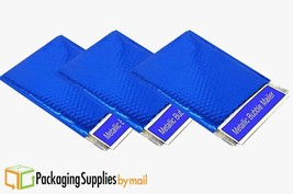 """Metallic Bubble Mailers Shipping Envelope Bags 13.75"""" x 11"""" Blue 300 Pieces - $290.02"""