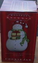 Holiday Snowman Cookie Jar - BRAND NEW IN BOX - Ceramic - SUPER CUTE DESIGN - $39.59
