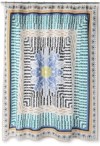 12 Previous BOHO Boutique Wild At Heart Fabric Shower Curtain