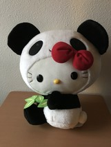 Panda Bear Suit Hello Kitty Sanrio Plush Doll 14 inch size Toy New w/ Tag - $44.97