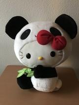 Panda Bear Suit Hello Kitty Sanrio Plush Doll 14 inch size Toy New w/ Tag - $44.97